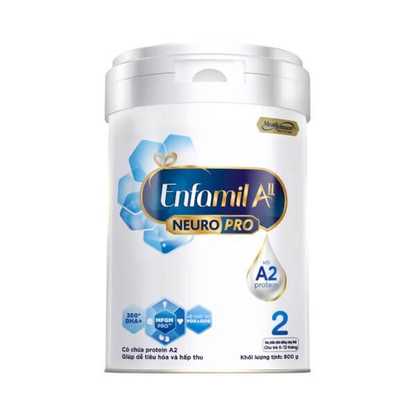 Sữa Enfamil A2 NeuroPro số 2 800g (Follow Up Formula, 6 – 12 tháng tuổi)