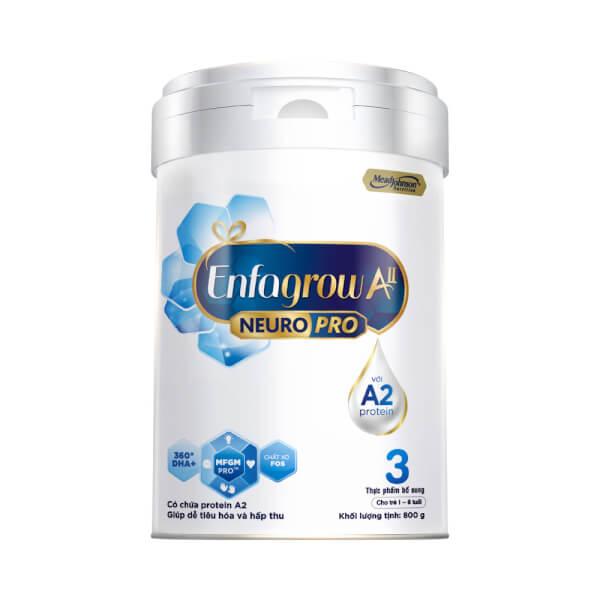 Sữa Enfagrow A2 NeuroPro số 3 800g (1 – 6 tuổi)