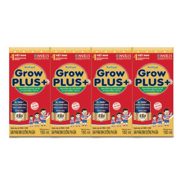 Sữa GrowPLUS+ Hộp 180ml (lốc 4 hộp)