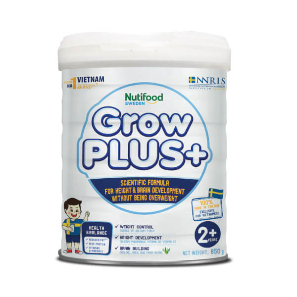 Sữa GrowPLUS+ Trắng 850g (từ 2 tuổi)