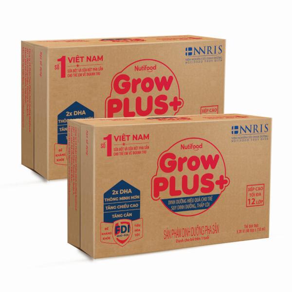 Combo 2 thùng sữa GrowPLUS+ Hộp 110ml (lốc 4 hộp)