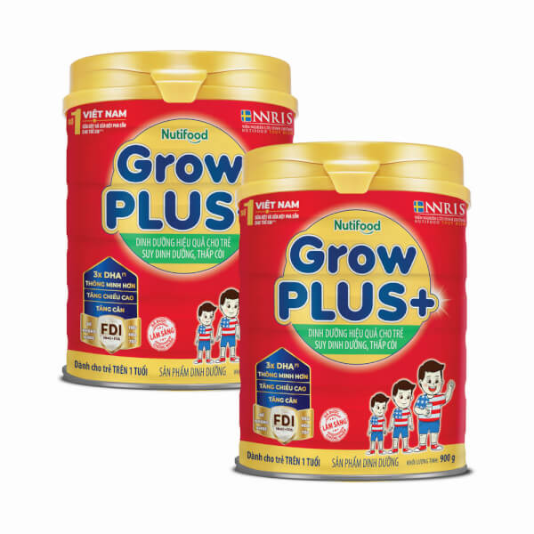 Combo 2 lon sữa GrowPLUS+ Đỏ 900g (từ 1 tuổi)