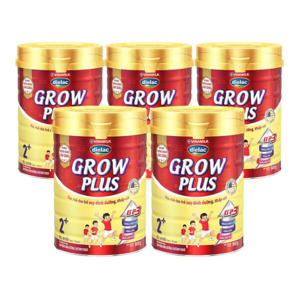 Combo 5 Sản phẩm dinh dưỡng Dielac Grow Plus 2+ 900g (2-10 tuổi)