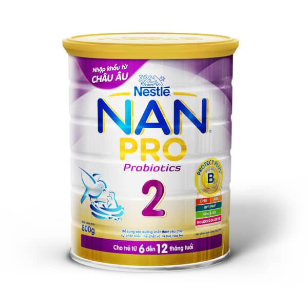 Sữa bột bột – Nestle NAN Pro 2 – 800g 6-12 tháng