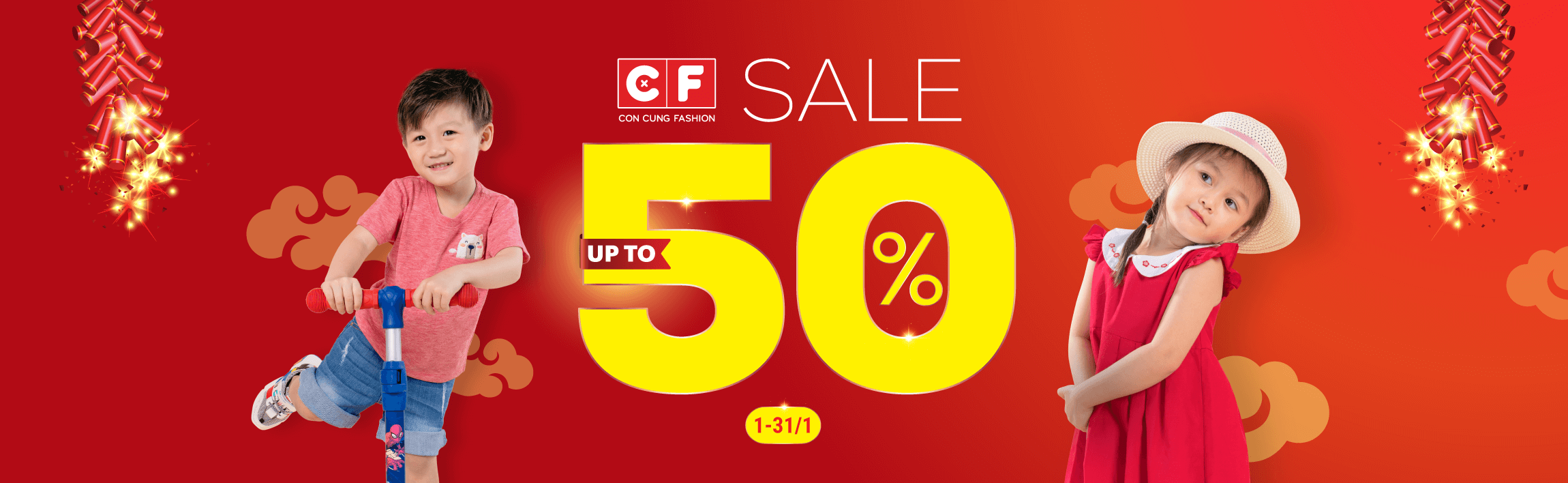 CF - Sale up to 50% 200.000 sản phẩm