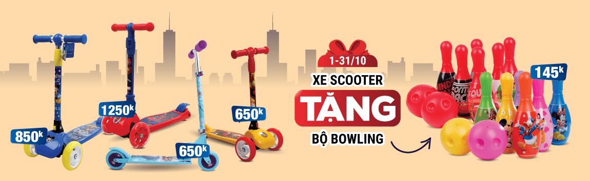 Mua xe Scooter nhận ngay bộ bowling