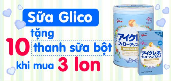 Sữa glico mua 3 lon tặng 10 thanh
