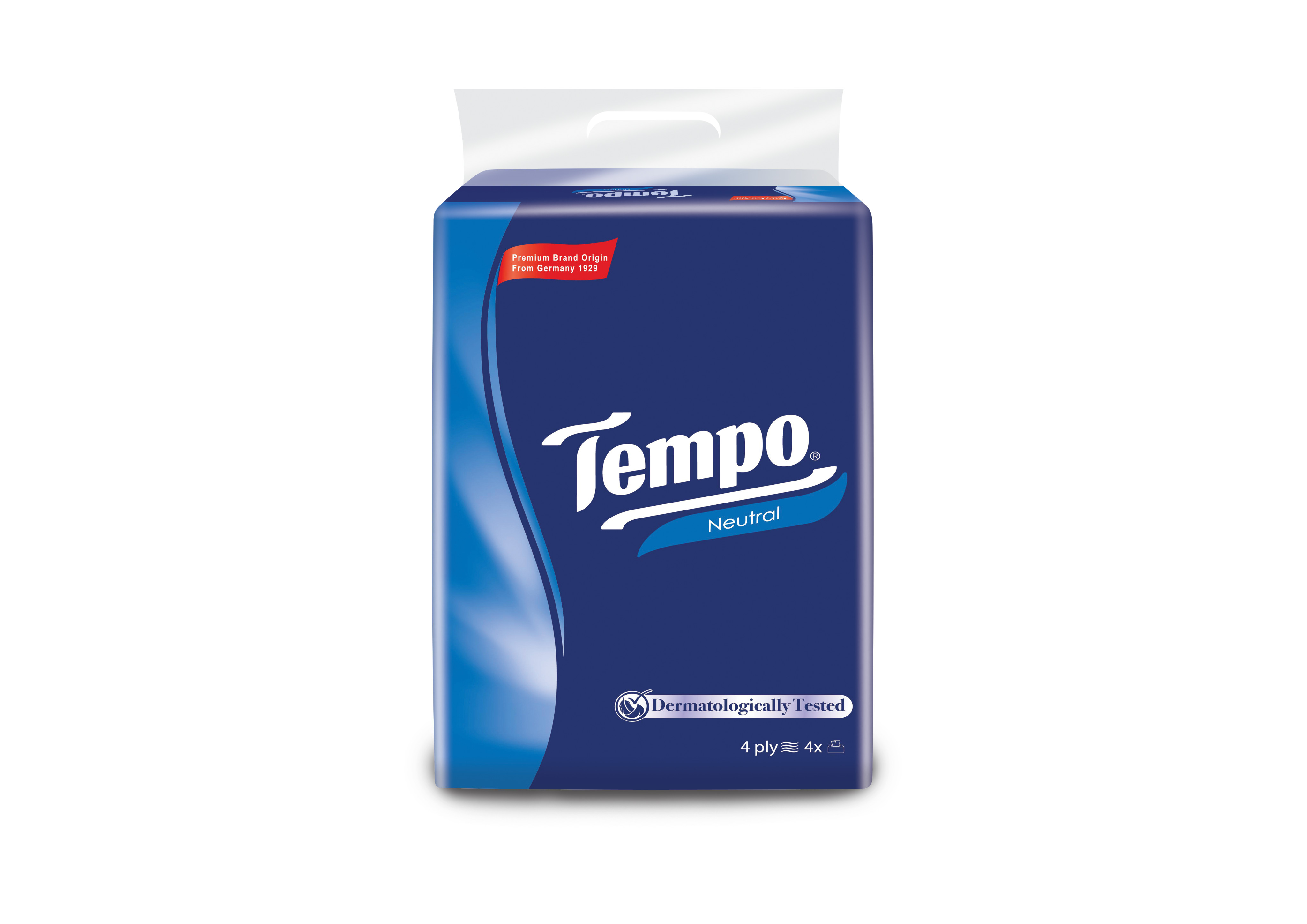 khăn rút Tempo 4 lớp 4 gói neutral