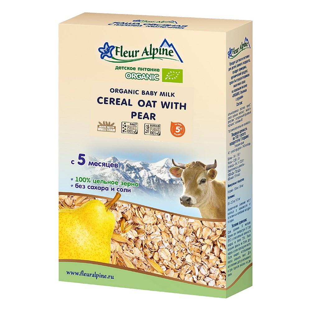 Thực phẩm bổ sung Bột pha sữa Organic yến mạch nguyên cám và lê