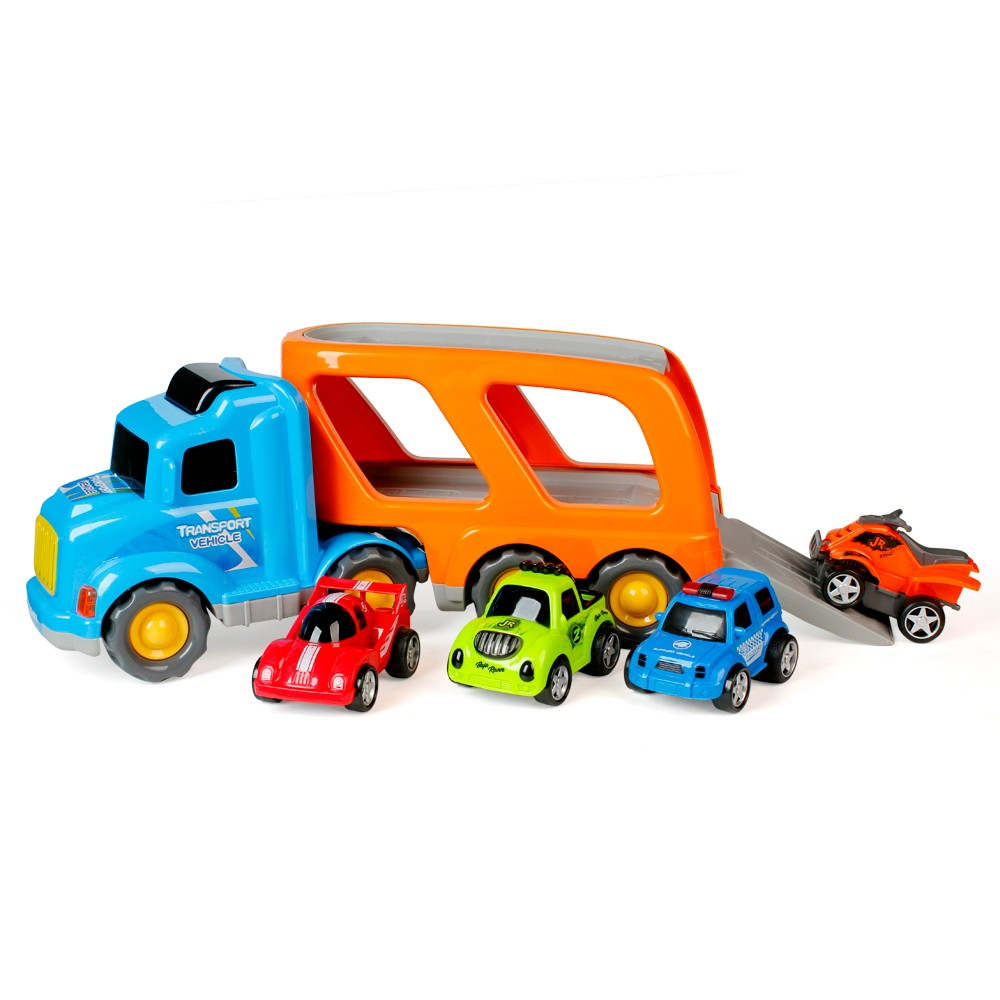 Xe tải lớn chở 4 xe nhỏ (xanh) RFD280757.02