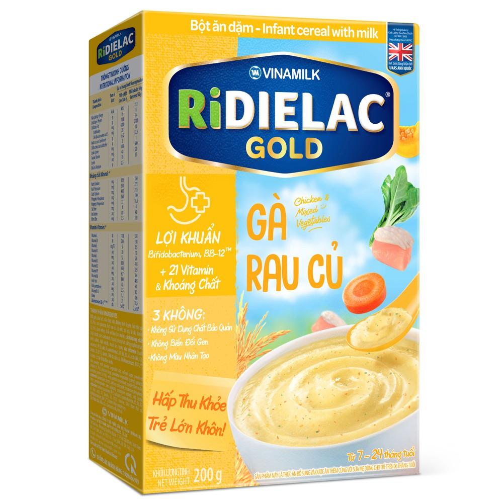 Bột ăn dặm Ridielac Gold Gà rau củ HG 200g