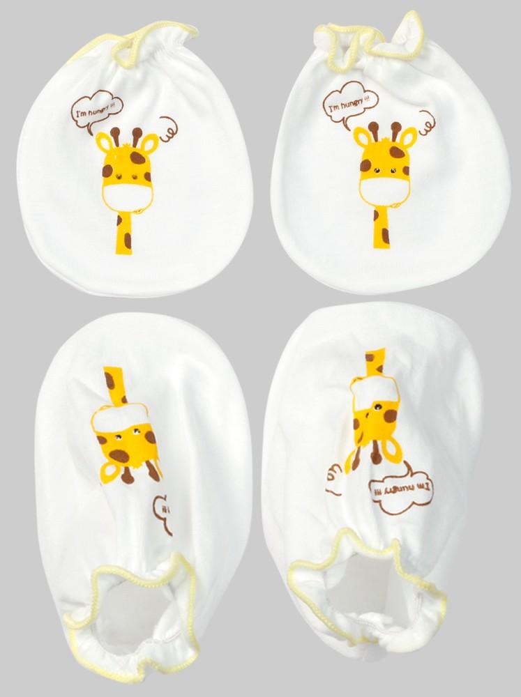 Bộ bao tay chân sơ sinh thun CF ( NB, Vàng )1