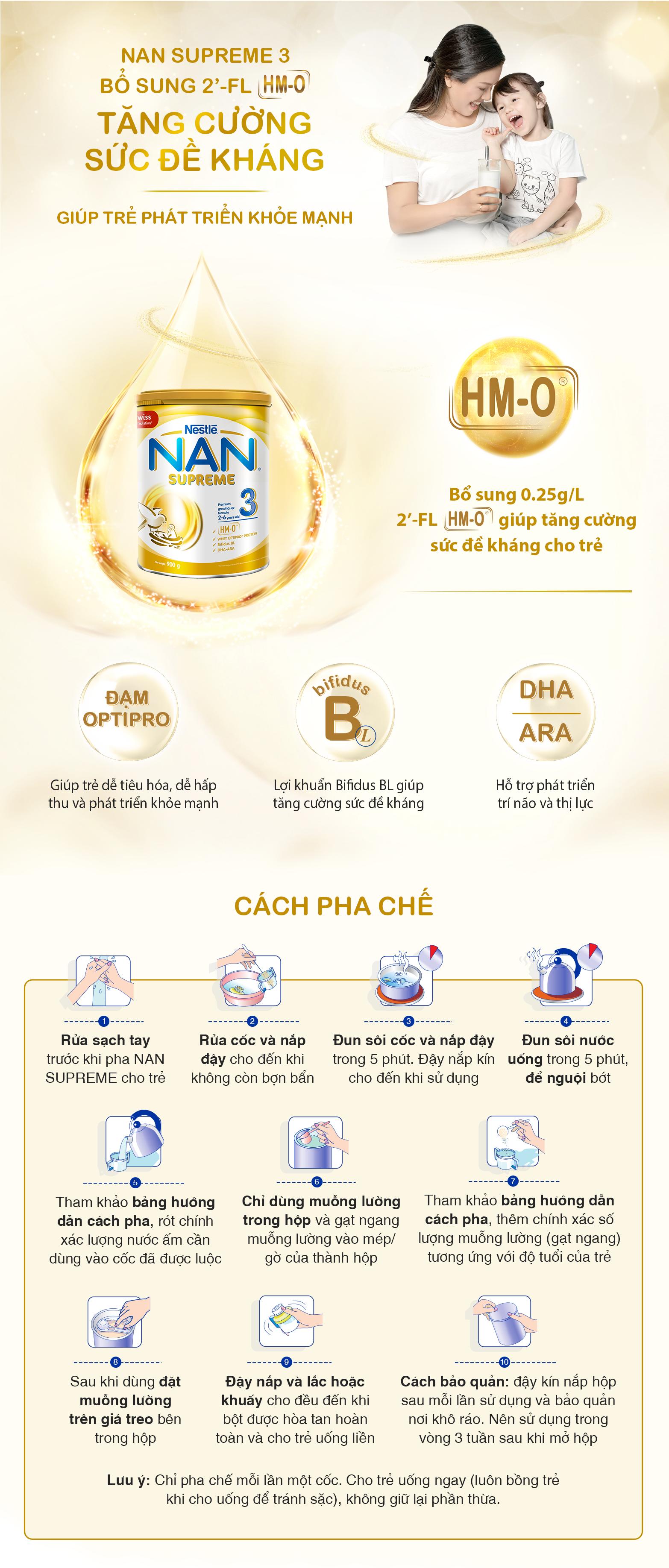 Sữa NAN Supreme 3, 900g