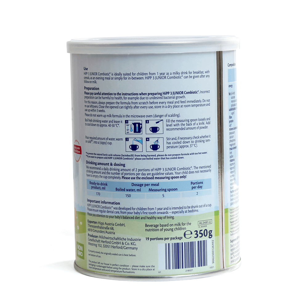 Hipp 3 Combiotic Organic Follow-on, 10-36 tháng, 350g02