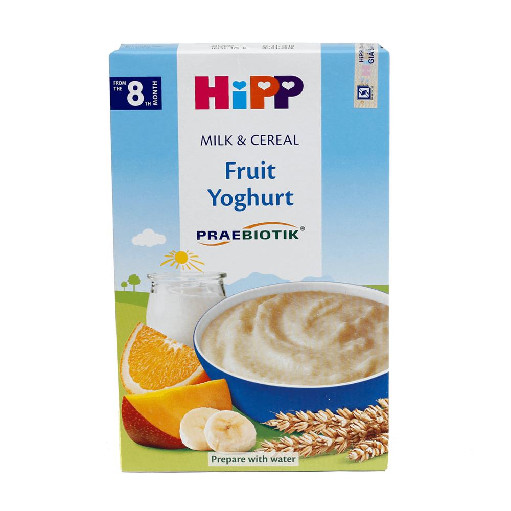 Bột sữa DD HiPP bổ sung Praebiotik - Hoa quả nhiệt đới, sữa chua 250g01