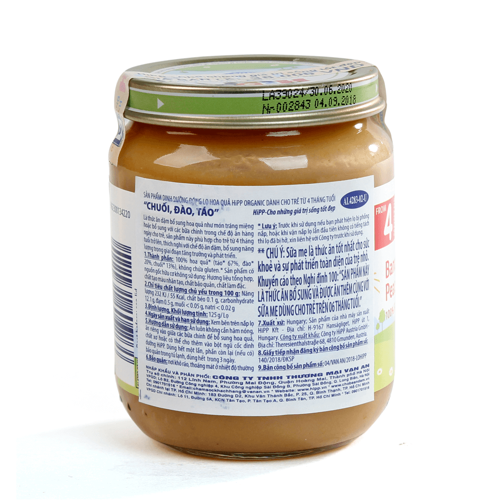DDĐL HiPP Organic - Chuối, đào, táo 125g03