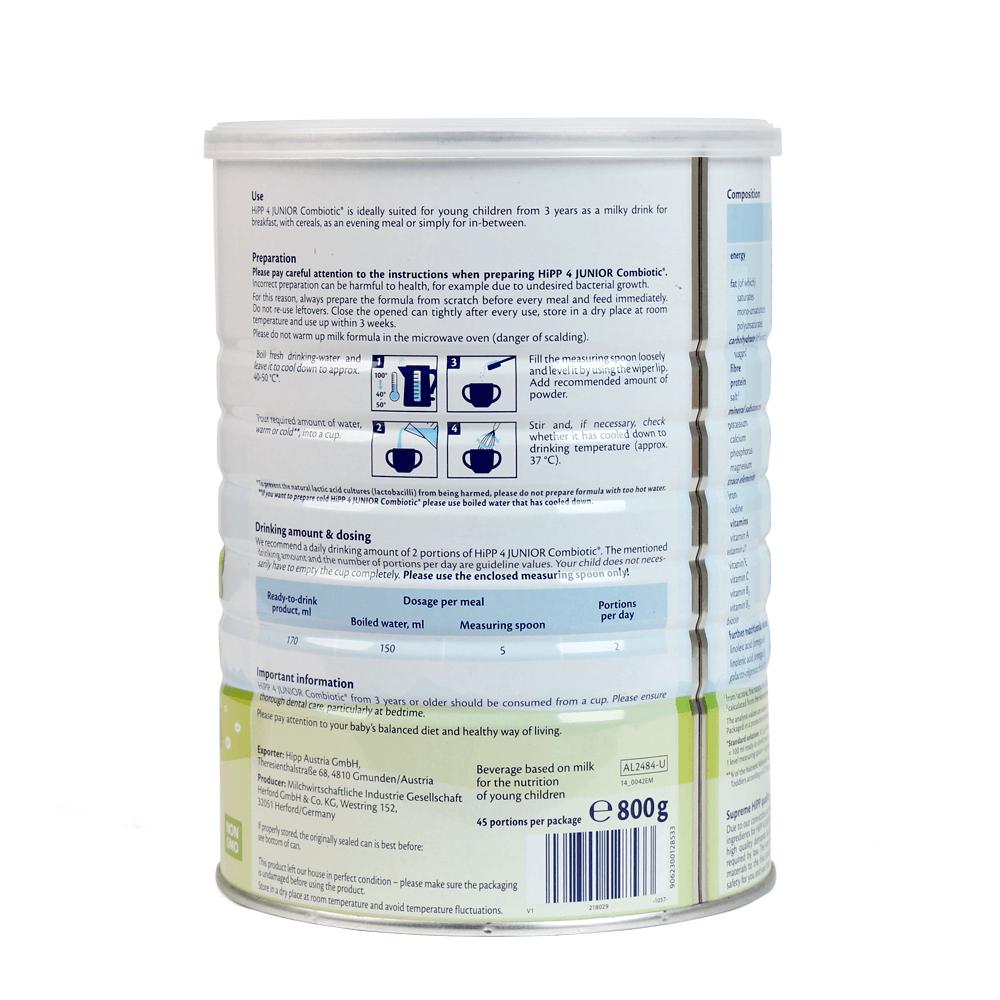 HiPP 4 Junior Combiotic 800g02