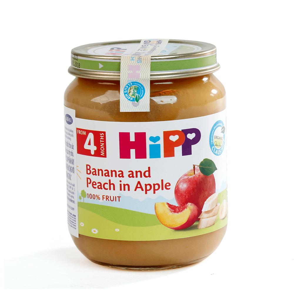 DDĐL HiPP Organic - Chuối, đào, táo 125g01