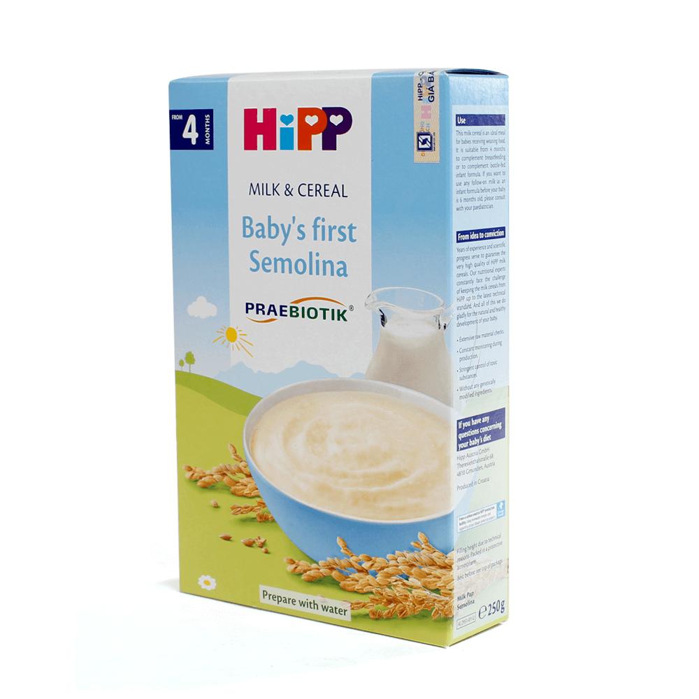 Bột sữa DD HiPP bổ sung Praebiotik - Bột ăn dặm khởi đầu Semolina 250g02