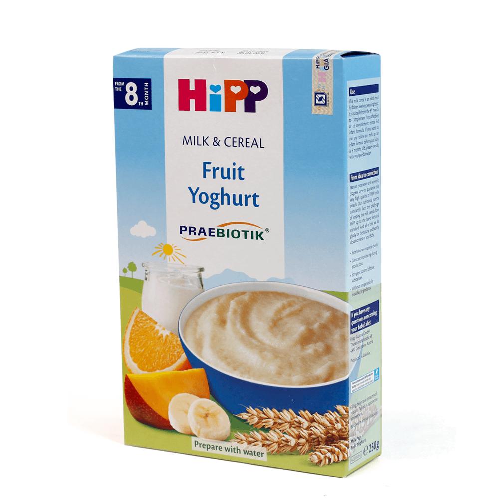Bột sữa DD HiPP bổ sung Praebiotik - Hoa quả nhiệt đới, sữa chua 250g02